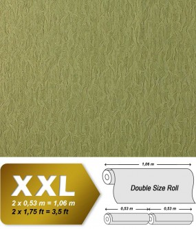 Wallpaper fabric textile look EDEM 930-38 luxury heavyweight non-woven  olive green gold shimmer 10,65 sqm (114 sq ft)