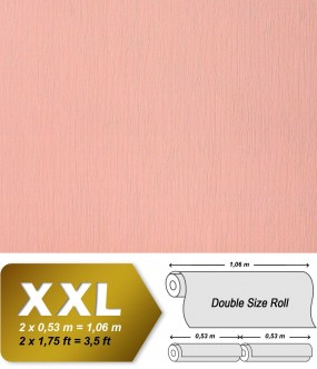 Plain wallpaper non-woven embossed texture EDEM 901-15 fabric textile look wallcovering rose | 10,65 sqm (114 sq ft) XXL
