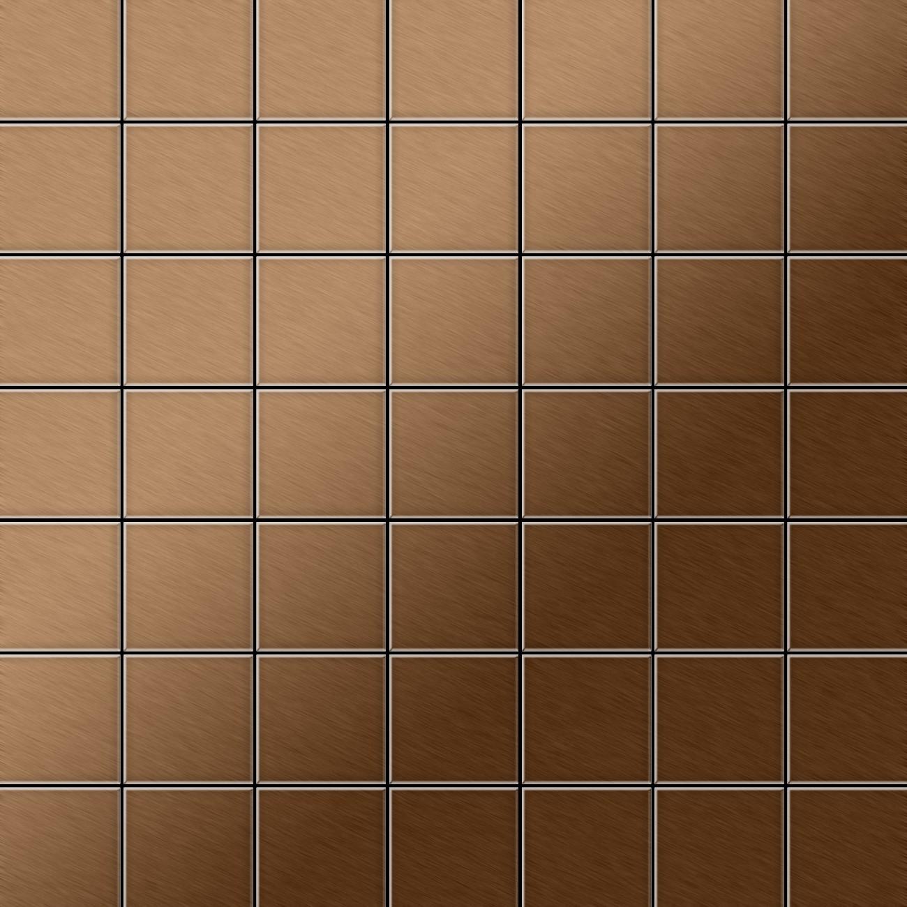 Azulejo mosaico de metal s lido titanio amber cepillado for Azulejo mosaico