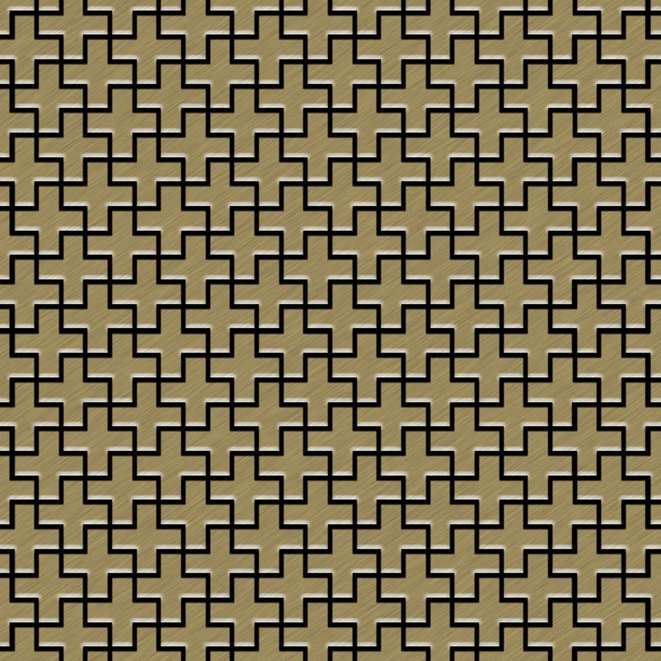 Azulejo mosaico de metal s lido titanio gold cepillado oro for Azulejo mosaico