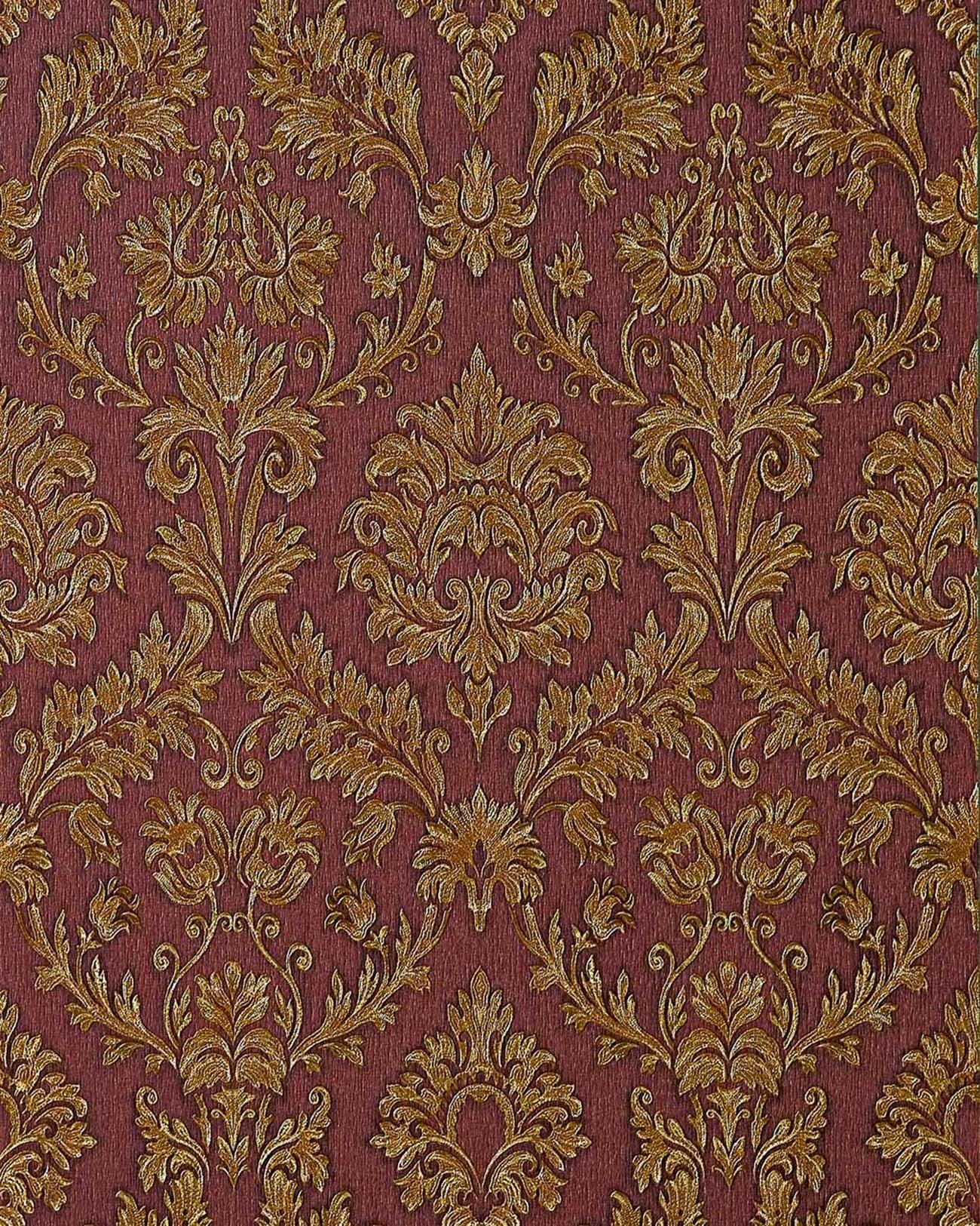 Papel pintado barroco damasco gofrado edem 708 36 de alta for Papel pintado barroco