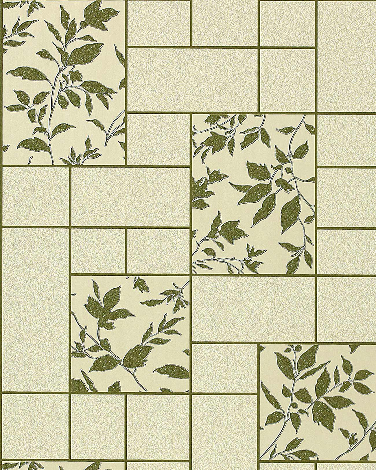 Baño Pintado De Verde:Silver and White Floral Kitchen Tile