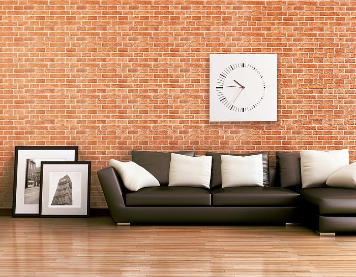 Papel mural con efecto muro de ladrillos edem 583 20 con - Papel imitacion piedra ...