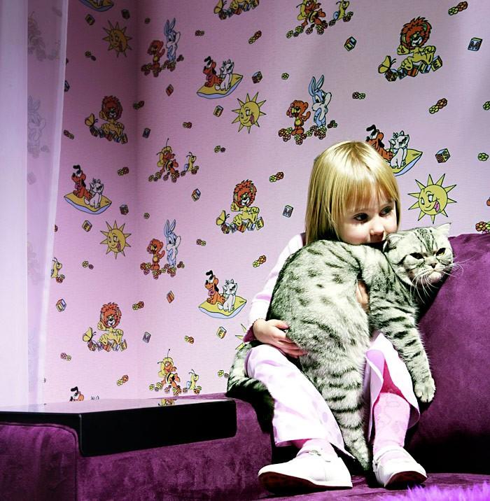 Papel pintado infantil para ni os ni as edem 007 25 y - Papel pintado bebe nina ...