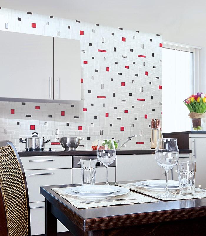 Papel mural con dise o de figuras geom tricas y azulejos - Empapelar azulejos cocina ...