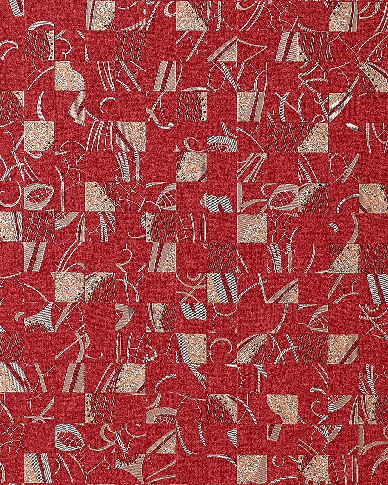 Papel pintado mystic arts collage edem 745 25 dibujo abstracto mosaico de arte con relieve color - Papel pintado color plata ...
