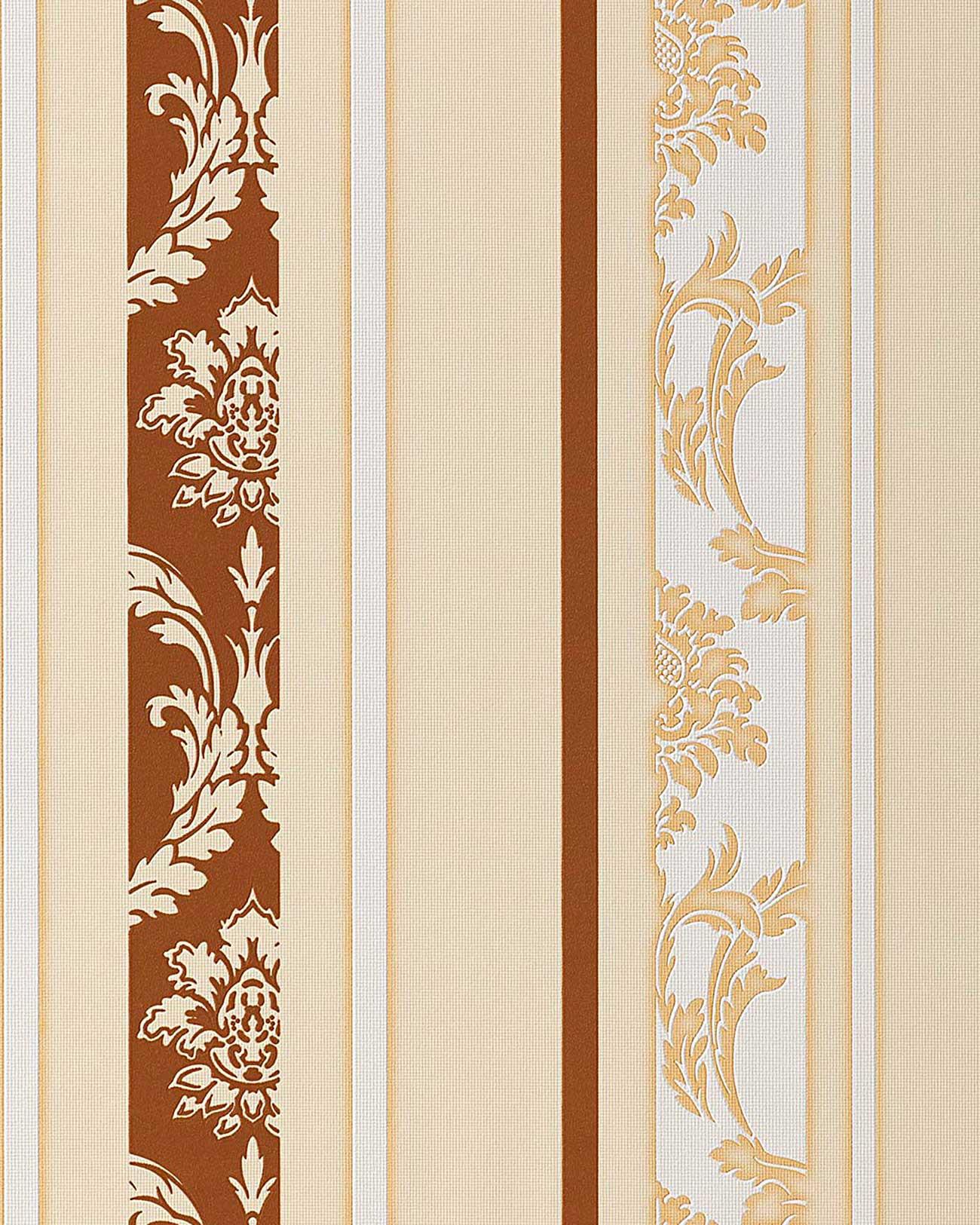 Papel pintado dise o barroco damasco edem 053 21 rayas - Papel pintado barroco ...
