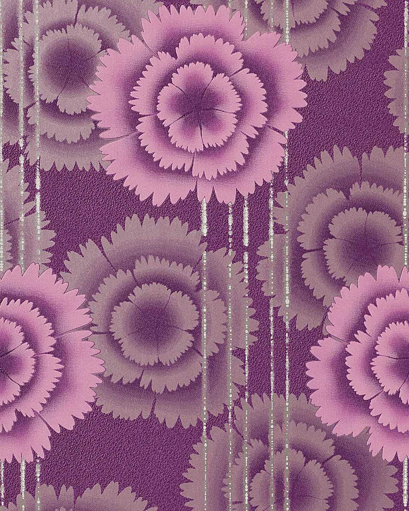 Papel pintado de dise o flores retro edem 056 24 a os 70 - Fabricantes de papel pintado ...