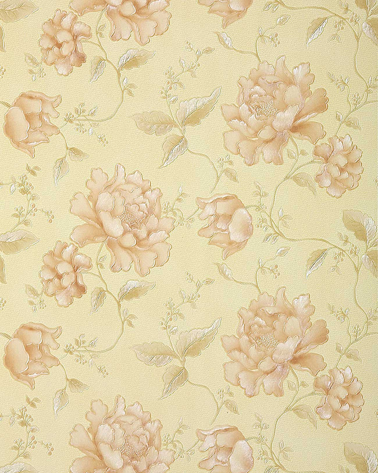 Papel pintado de flores edem 748 31 3d textura in relieve for Papel pintado gris y rosa