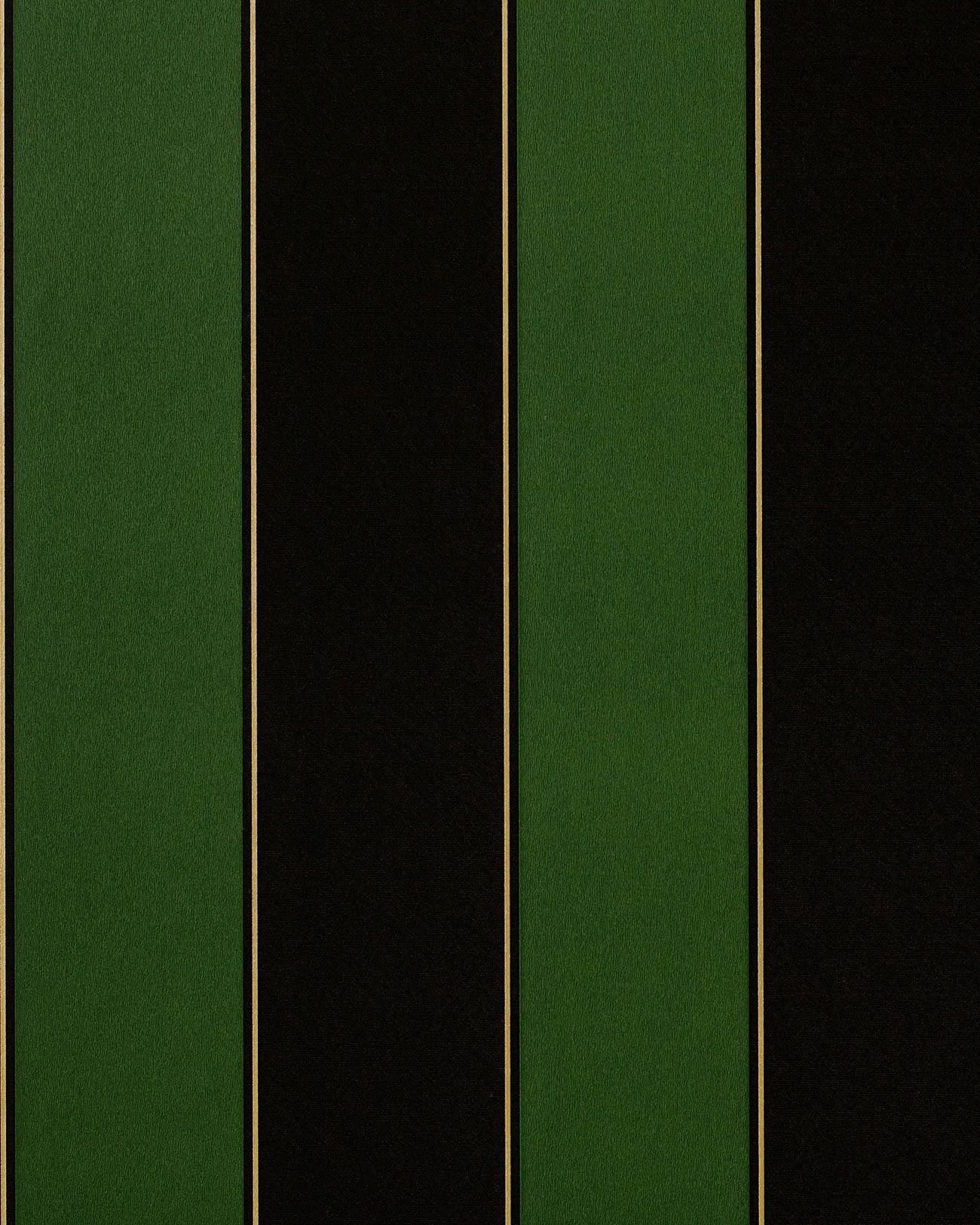Retro Tapeten Dunkelgr?n : Emerald Green Stripe Wallpaper
