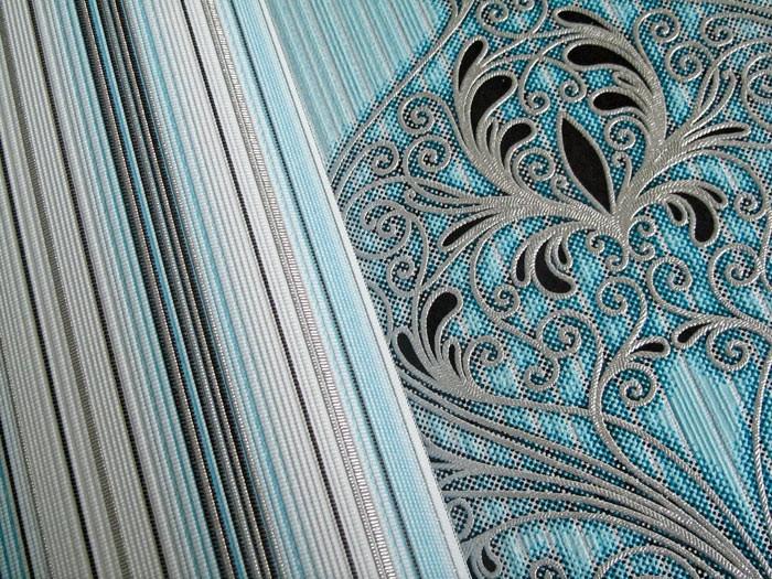 Papel pintado dise o barroco edem 096 22 damasco for Papel pintado azul y plata